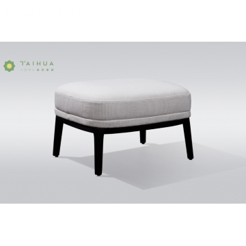 Metal Frame Fabric Cushion Sofa Footrest