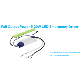 Rechargeable Li-ion Battery Backup LED Emergency Pack