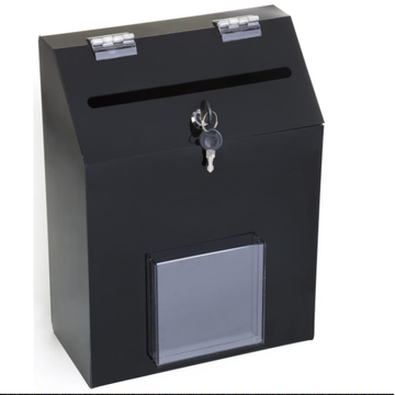 Acrylic Black Suggestion Box With 1 Pocket