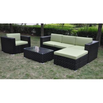 PE Rattan garden furniture aluminium sofa set