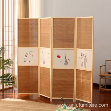 4 Panel Chinese Oriental Style Room Screen Divider
