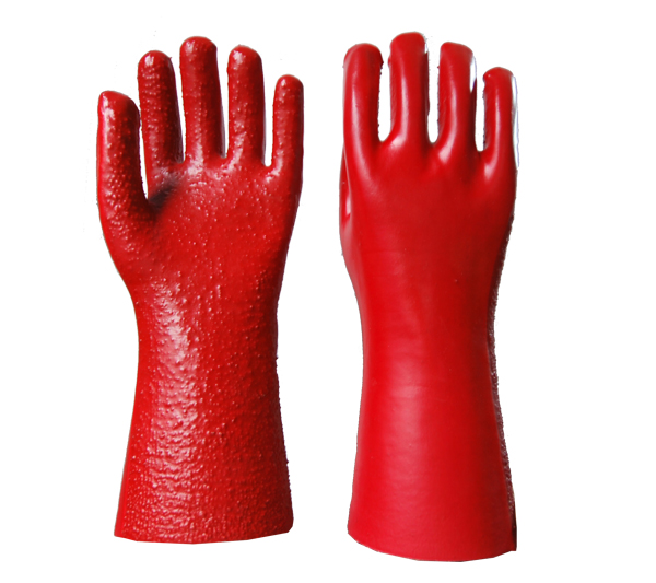 PVC Coated Gloves with toweling liner