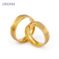 Romantic Gifts Matte Finish Gold Ring For Couples