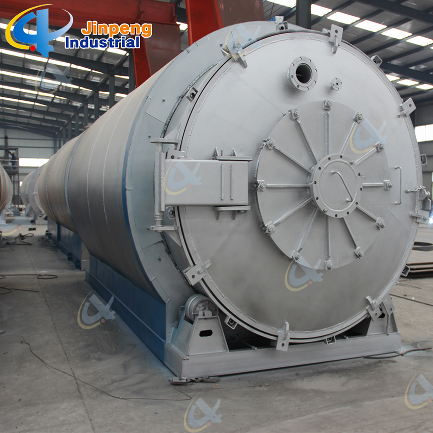 Waste Rubber Tire and Plastics Recycling Pyrolysis Machine