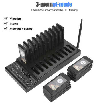 SU-68G Restaurant Pager Wireless Calling System Receiver 20-Channel with Charging Indicator(110-240V) Hot