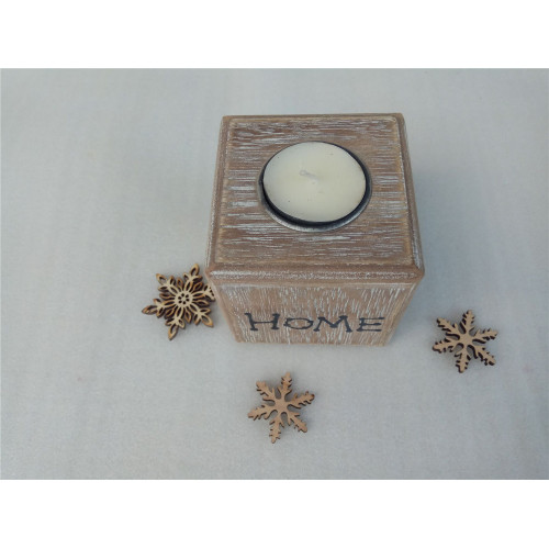 8CM Square Wooden  Holder Tray