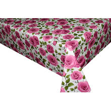Elegant Tablecloth with Non woven backing  Overlays