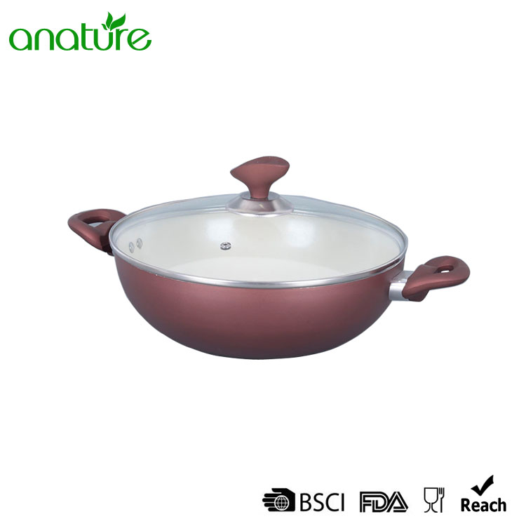 Ceramic Pressed Glass Heat Resistant Cookware Set