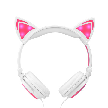 Jualan Hot Light Up Cat Telinga Earphone berwayar