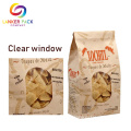 Resealable Ziplock Kraft Paper Bag With Clear Window