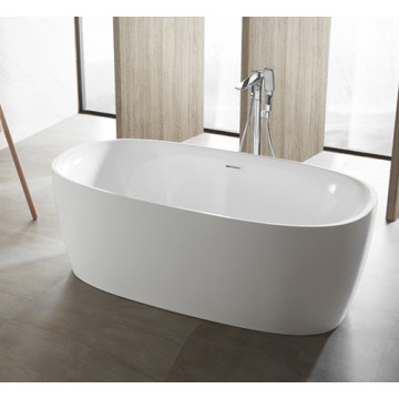 Freestanding Acrylic Bathroom Tubs White Round Bathtub