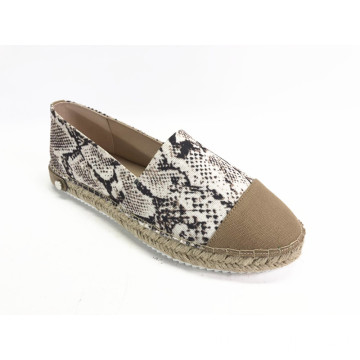 Ladies Cap toe Espadrille Slip-on Shoes