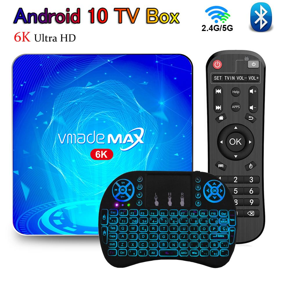 Bluetooth Android TV Box 6K Ultra HD TVBOX Android 10 Set Top Box 2GB 4GB 16GB 64GB H.265 with WiFi Support YouTube