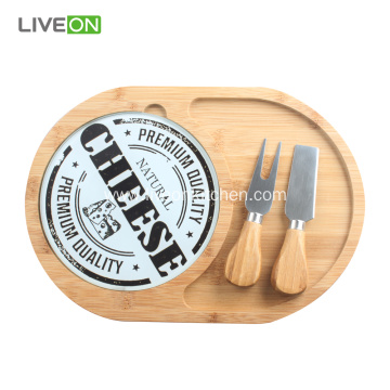 Bamboo Cheese Board Set