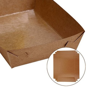 Kraft Cardboard Fast Food Paper Box