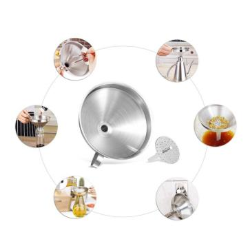 Stainless steel kitchen funnel