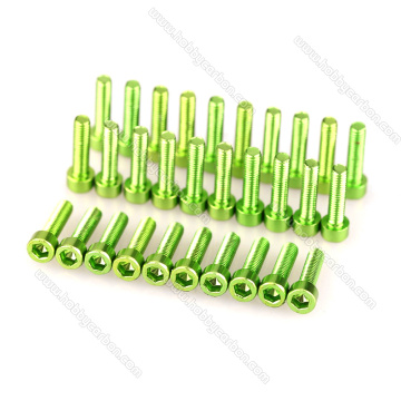 High precision Colorful Aluminum Hex socket head screw
