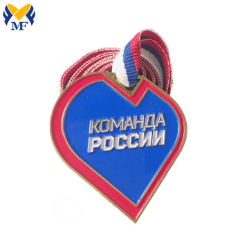Metal medal making custom sport Soft enamel medals