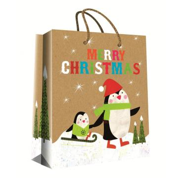 CHRISTMAS SERIES KRAFT GIFTBAG37-0