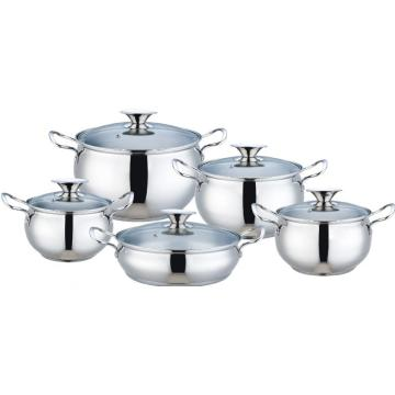 stainless steel casserole with glass lid apple shape