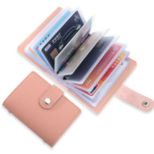 Women's 26 Cards Bag Slim PU Leather ID Credit Card Holder Pocket Case Purse Wallet Business