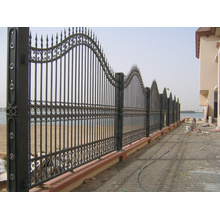 Elegant Design Wrought Iron Fence for Large House