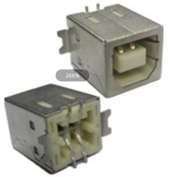 USB2.0 B Type Receptacle SMT