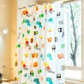 Shower Curtain PEVA Cute Animals