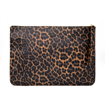 Ladies Leopard Leather Evening Party Bag with Strap