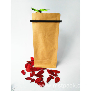 Kraft Paper Flat Bottom Pouch With Tin Tie