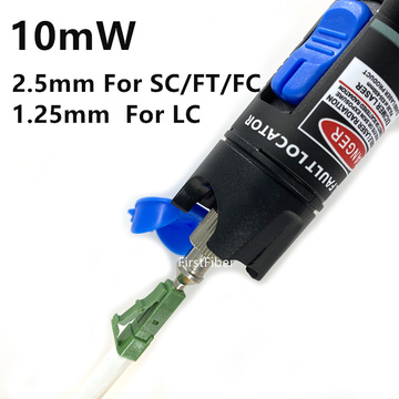 10mW metal Visual Fault Locator Fiber Optic Cable Tester 10-12KM Test Laser Product Suitable for SC/FC/ST/LC