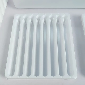 blue PET packaging tray medical laboratory reagents