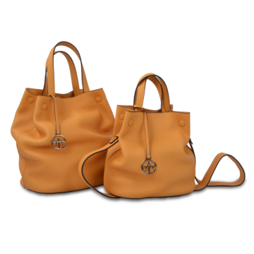 Fashionable drawstring bucket bag is durable