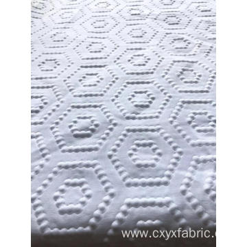 Polyester white bubble 3d emboss fabric