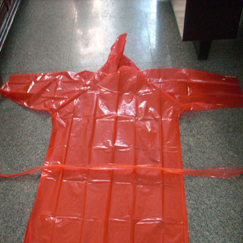 pe raincoat red