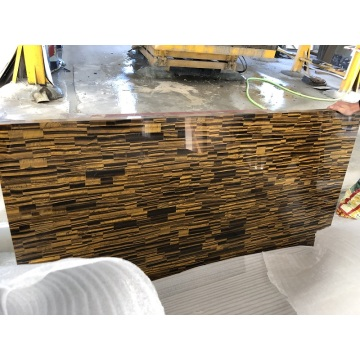 No Translucent Yellow Tiger Eye stone slab
