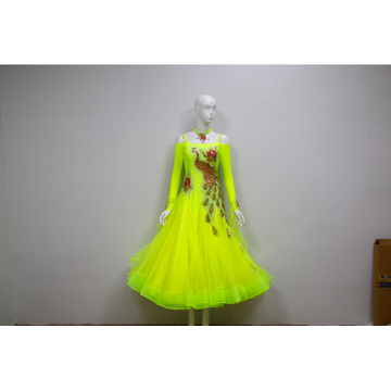 Yellow ballroom dance dresses uk