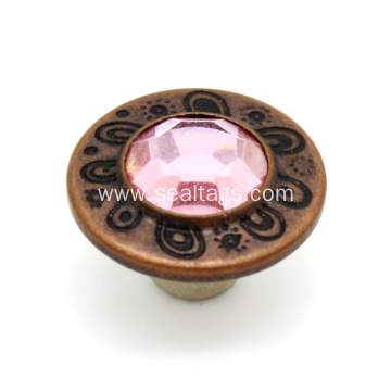 Embossed Logo Metal Brass Jeans Button