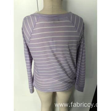Splicing striped long sleeves