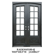 Ornamental iron security doors