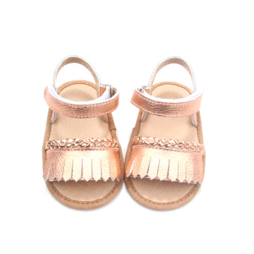 New Design Wholesale Leather Latest Fashion Girls Sandals