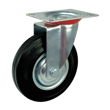 160mm rubber caster wheels