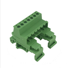 5.08MM pitch Din rail pluggable male terminal block