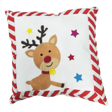 White style christmas reindeer pattern pillow