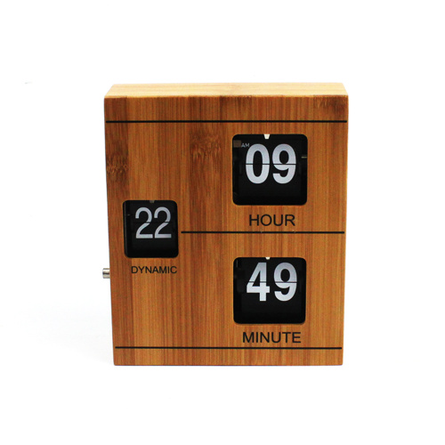 Wood Book Flip Clock for Decorating