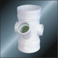 Bs5255/4514 Drainage Upvc Reducing Y-tee Grey Color