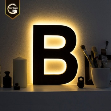 outdoor indoor Custom metal stainless steel halo-lit letter