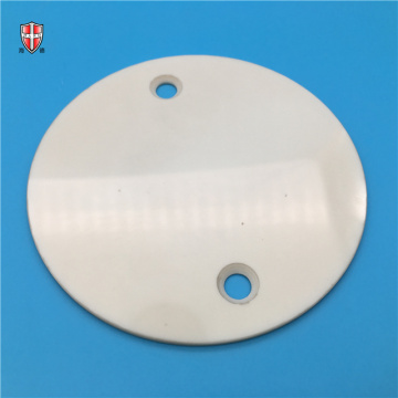single polished 99% alumina ceramic disc with holes