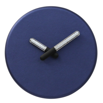 Blue Wall Clock With Light