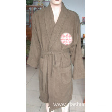 100% cotton terry bathrobe for men and women